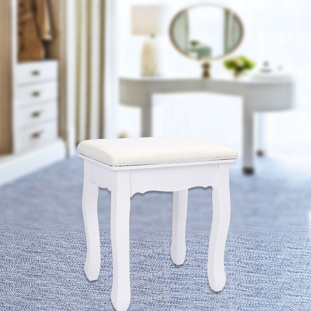 Makeup Table Chair Details About Vintage Dressing Table Stool Piano Chair Padded Decor Makeup Seat Baroque White