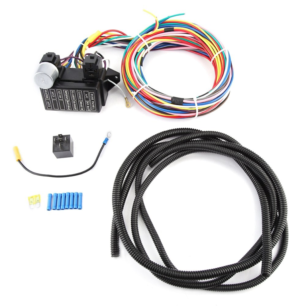 medium resolution of details about circuit wire harness fuse box street hot rod wiring car truck 12v universal