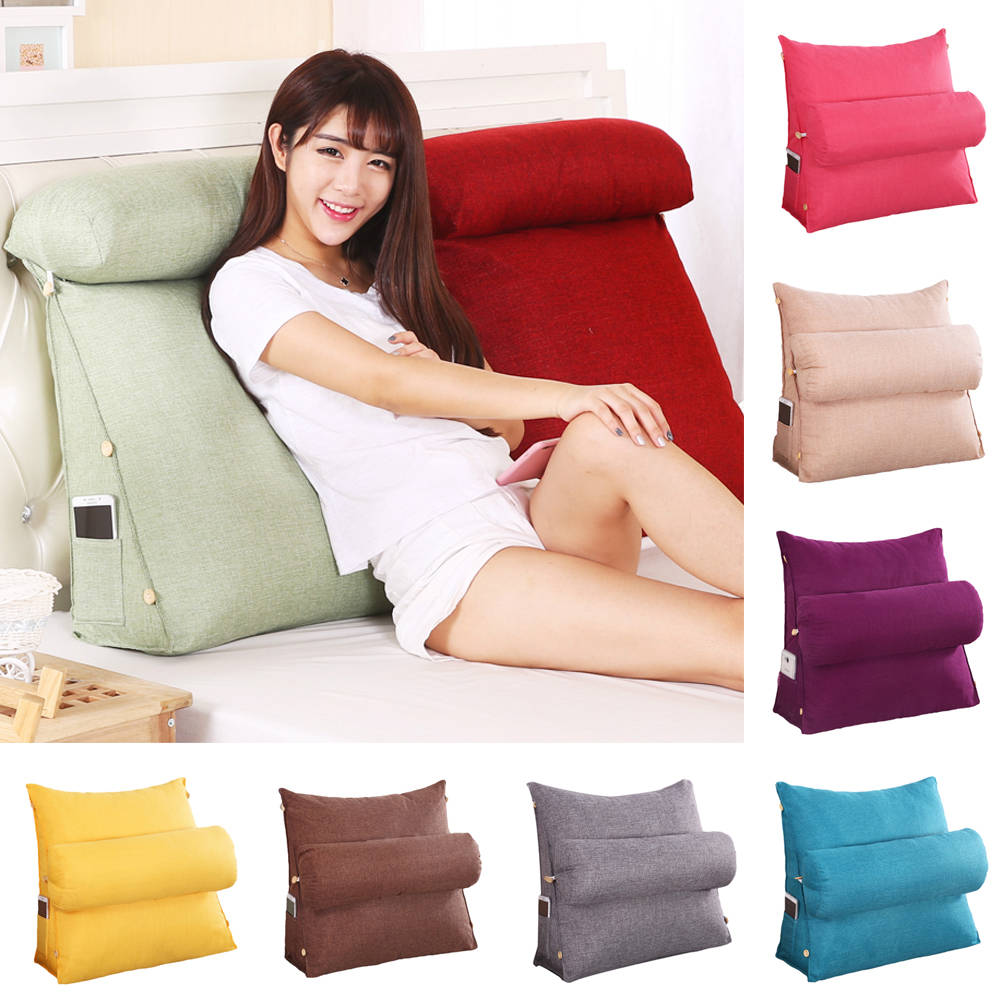 details about adjustable back wedge cushion pillow sofa home office chair rest neck support