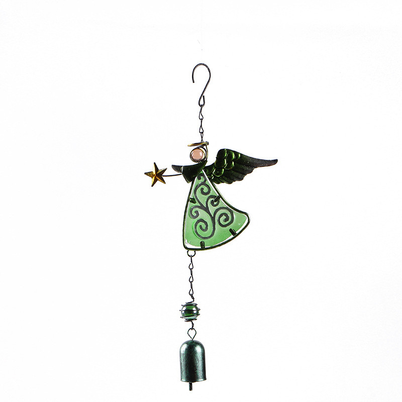 Wind Chimes Metal and Glass Angel Outdoor Garden Yard