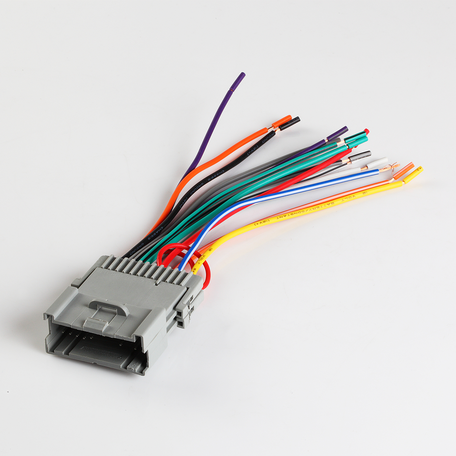hight resolution of standard wiring harness with basic color codes metra 702002 raptor gm 4003 2000 2005 saturn in