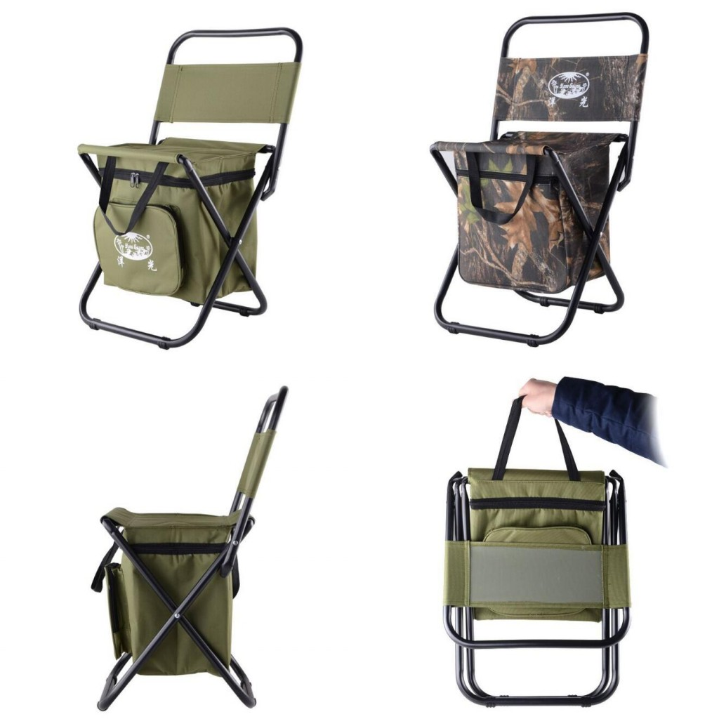 Folding Chair Backpack Details About Foldable Backpack Fishing Chair Stool Cooler Bag Hiking Camping Outdoor Picnic