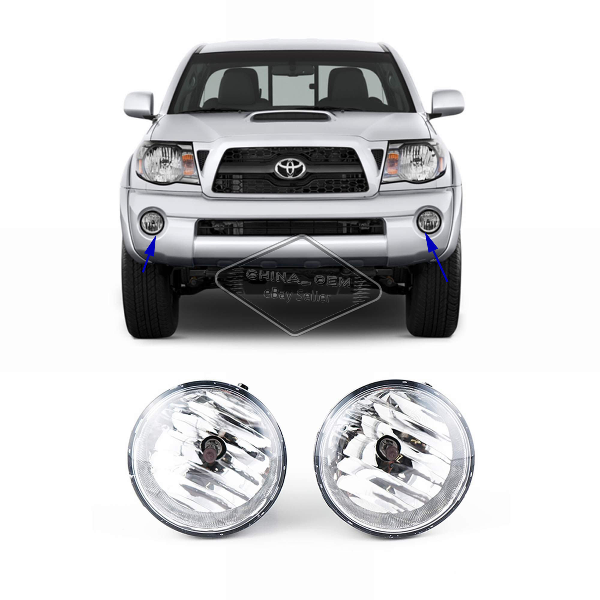 hight resolution of for 2005 2006 2007 2008 2009 2010 2011 toyota tacoma fog lights fog light wiring 06 tacoma 4 cyl extended cab