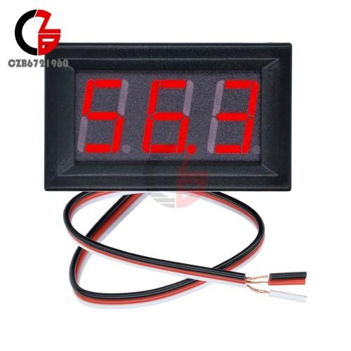 small resolution of 10pcs three wires mini red led display panel meter digital voltmeter dc 0v 99 9v