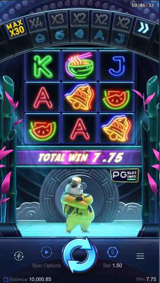Hip Hop Panda แพนด้าสล็อต บนมือถือจากค่าย PG slot