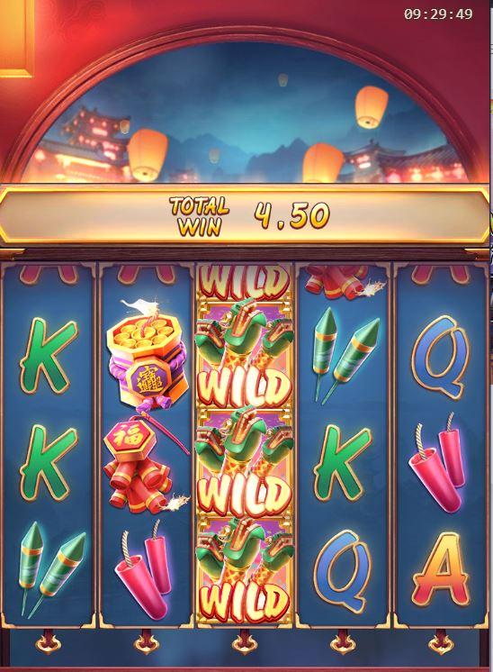 PG Slot เกมไหนดี Wild Fireworks สล็อตออนไลน์ บนมือถือ จาก PG slot