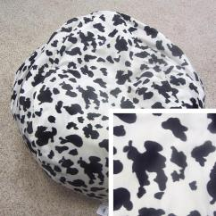 Cheetah Print Bean Bag Chair Travel High Short Pile Faux Fur Animal Cow