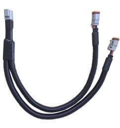 aurora y splitter wiring harness [ 1100 x 1100 Pixel ]