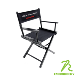 Personalized Makeup Chair Faux Leather Cushion Directors Chairs Teamlogo Com Custom Imprint And Embroidery Finish Canvas Set Color Location S Front