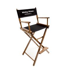 customized directors chair walmart papasan chairs teamlogo com custom imprint and embroidery imprinted bar height 30