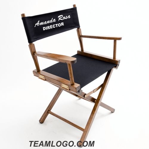 customized directors chair leather covers to buy custom imprinted table height 18 inch gold medal teamlogo com imprint and embroidery
