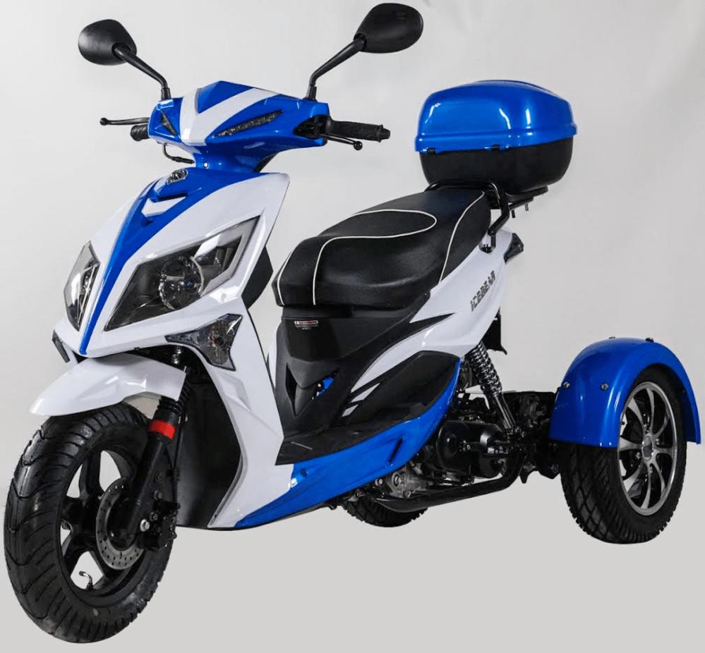 medium resolution of 2018 50cc ice bear mojo magic three wheel trike scooter