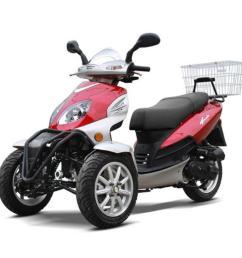 zummer 50cc gas motor scooter automatic pre assembeld [ 1080 x 1080 Pixel ]