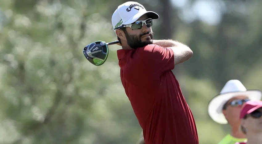 Adam Hadwin shot a 59 at the CareerBuilder Challenge in January where he finished runner-up. (Sam Greenwood/Getty Images)