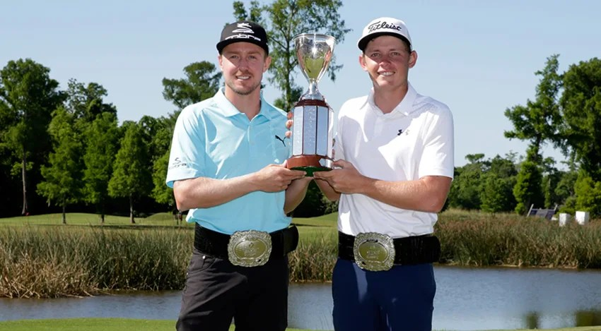 Jonas Blixt and Cameron Smith won with a birdie on the 76th hole. (Marianna Massey/Getty Images)