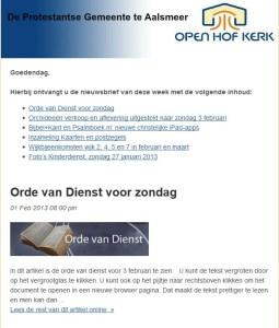 Open Hof Nieuws