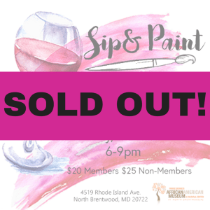 Sip & Paint Sold-Out Friday March 23