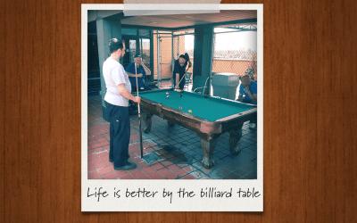 Enjoying Our New Billiard Table