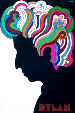 1960s Milton Glasser poster for Dylan