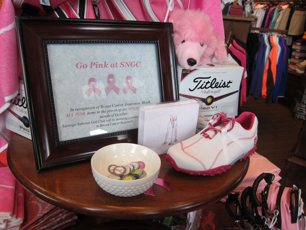 Saratoga National Golf Club-Breast Cancer Display 2