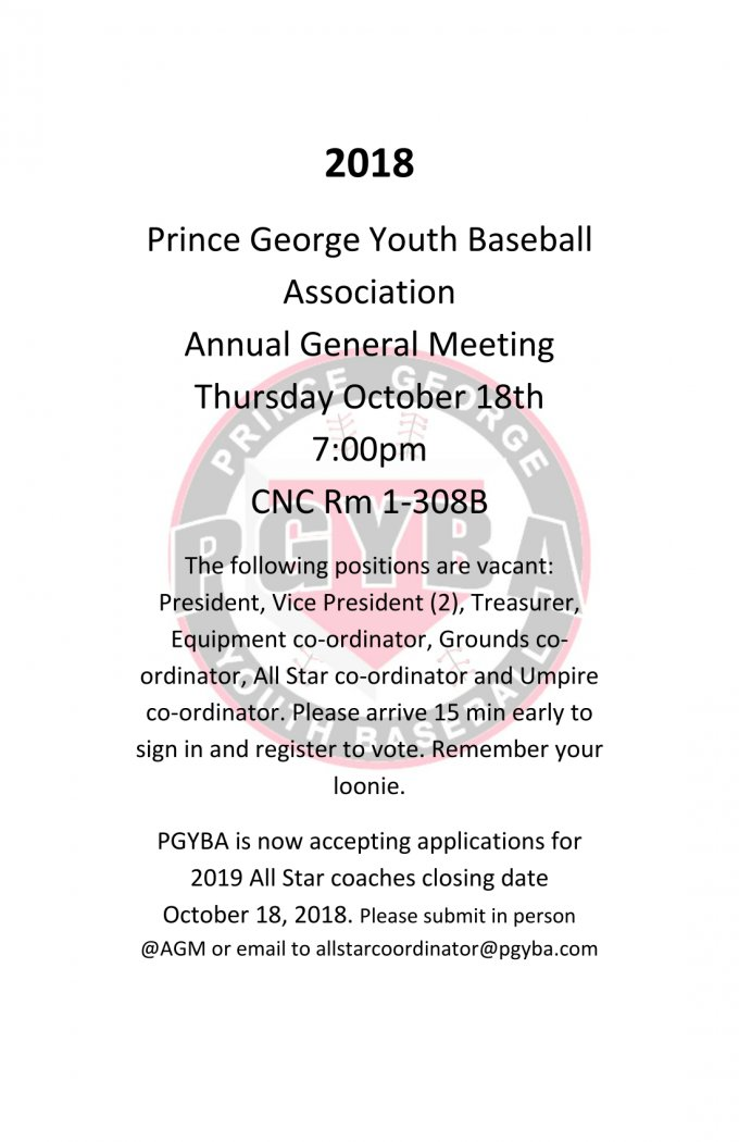 Prince George Youth Baseball Association powered by
