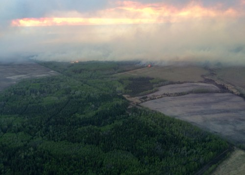Beatton Airport Road fire near Fort St. John. Photo courtesy of the B.C. Wildfire Service