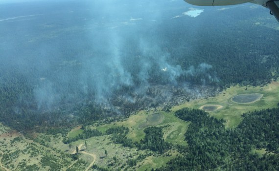 Lac la Hache forest fire. BC Wildfire Service photo