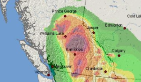 Smoke forecast map
