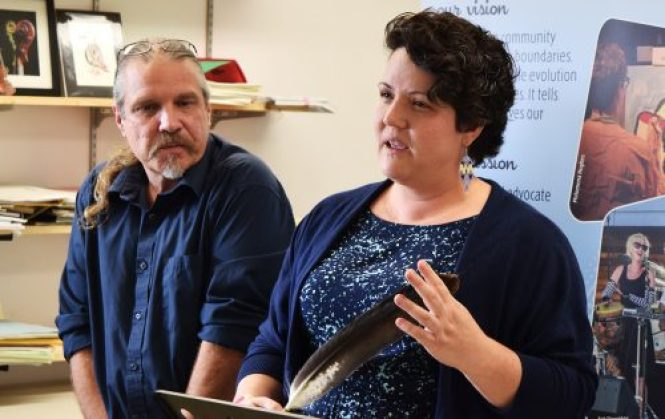 The Community Arts Council's new Artists-in-Residence Michael Kast (left) and Lynette La Fontaine. Bill Phillips photo