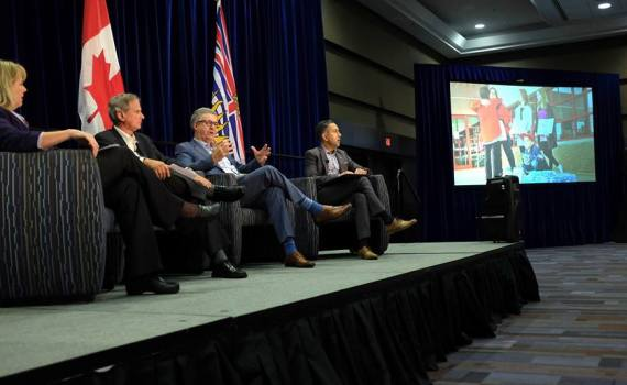 """At the Union of BC Municipalities convention today in Vancouver, Mayor Lyn Hall was joined by Mayor Colin Basran of Kelowna and Al Richmond, Chair of the Cariboo Regional District, for a panel discussion on """"leading in times of crisis."""" The session had roughly 400 people in attendance and focused on local government leadership during the Cariboo wildfires this past summer and the flooding in the southern interior in the spring. City of Prince George photo"""