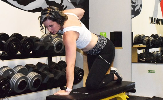 Sarah Schleich trains at The Gym in Prince George. She will competing in the Brink Iron Ore Classic on Saturday. Bill Phillips phot