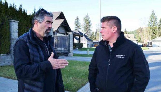 Boardwalk Properties agent nominee Gordon Langer (left) gives some real estate advice to agent Joe Postnikoff. Bill Phillips photo