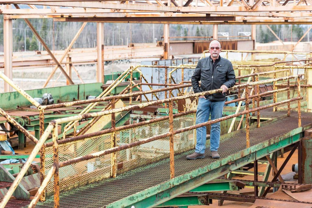 Brink Forest Products owner John Brink in the partially-constructed sawmill in the BCR Industrial Site. Photo supplied