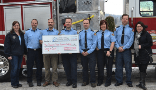 Beaverly Volunteer Fire Department donates $2,700 to Hospice House.