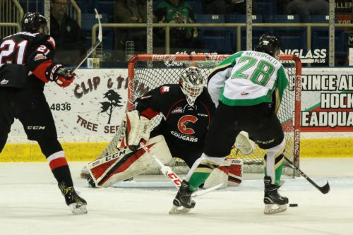 Former Cougar Kody McDonald had a big night against his former team Friday, notching three points. Photo courtesy of the Prince George Cougars