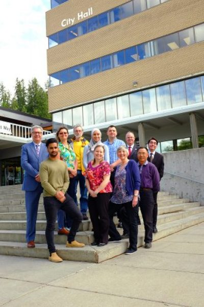 The recipients of last year's Volunteer Recognition Awards (left to right) back row: Mayor Lyn Hall; Recreation and Culture Award recipient, June Berreth; Outstanding Volunteer Award recipient, John Vogt; Youth of the Year Award recipient, Lila Mansour; Community Champion Award recipient, Mike Burt; Recreation and Culture Award recipient, Greg Pocock; Youth of the Year Award honourable mention, Mohamed Shubair. Front row: Community Service Award recipient, Jay Khatra; Outstanding Volunteer Award recipient, Tamara Sweet; Community Service Award recipient, Ruth Walter; and Recreation and Culture Award recipient, Yiqun (Ian) Ying. Not pictured: Youth of the Year Award honourable mention, Zachary Bundock, and Community Champion Award recipient, Jamie Kranrod. City of Prince George photo