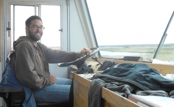 Assistant Professor of Environmental Planning Dr. Mark Groulx travelled to Churchill, Man., to explore why people choose to visit certain sites before they disappear. UNBC photo