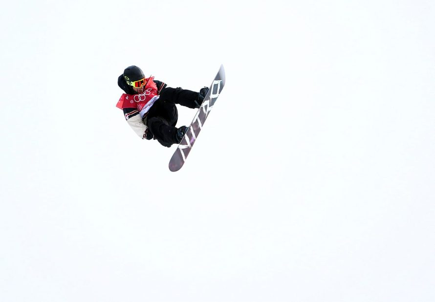 Sébastien Toutant of Canada wins gold in the men's big air finals at the Alpensia Ski Jumping Centre during the PyeongChang 2018 Olympic Winter Games in PyeongChang, South Korea on February 24, 2018. (Photo by Vaughn Ridley/COC)