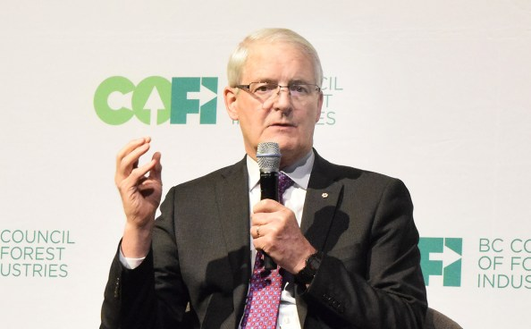 Federal Transport Minister Marc Garneau at the COFI convention Thursday. Bill Phillips photo