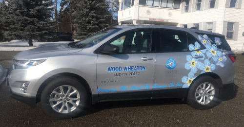 Wood Wheaton has provided Prince George Hospice with the use of this car. Photo submitted