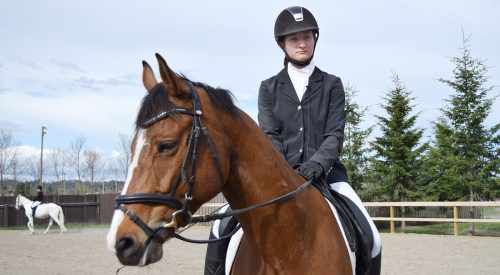 Ekaterina Filatov and Quincy at the Prince George Agriplex. Bill Phillips photo