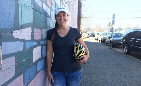 Karin PIche, founder of the Wheelin' Warriors of the North. Northern Health photo