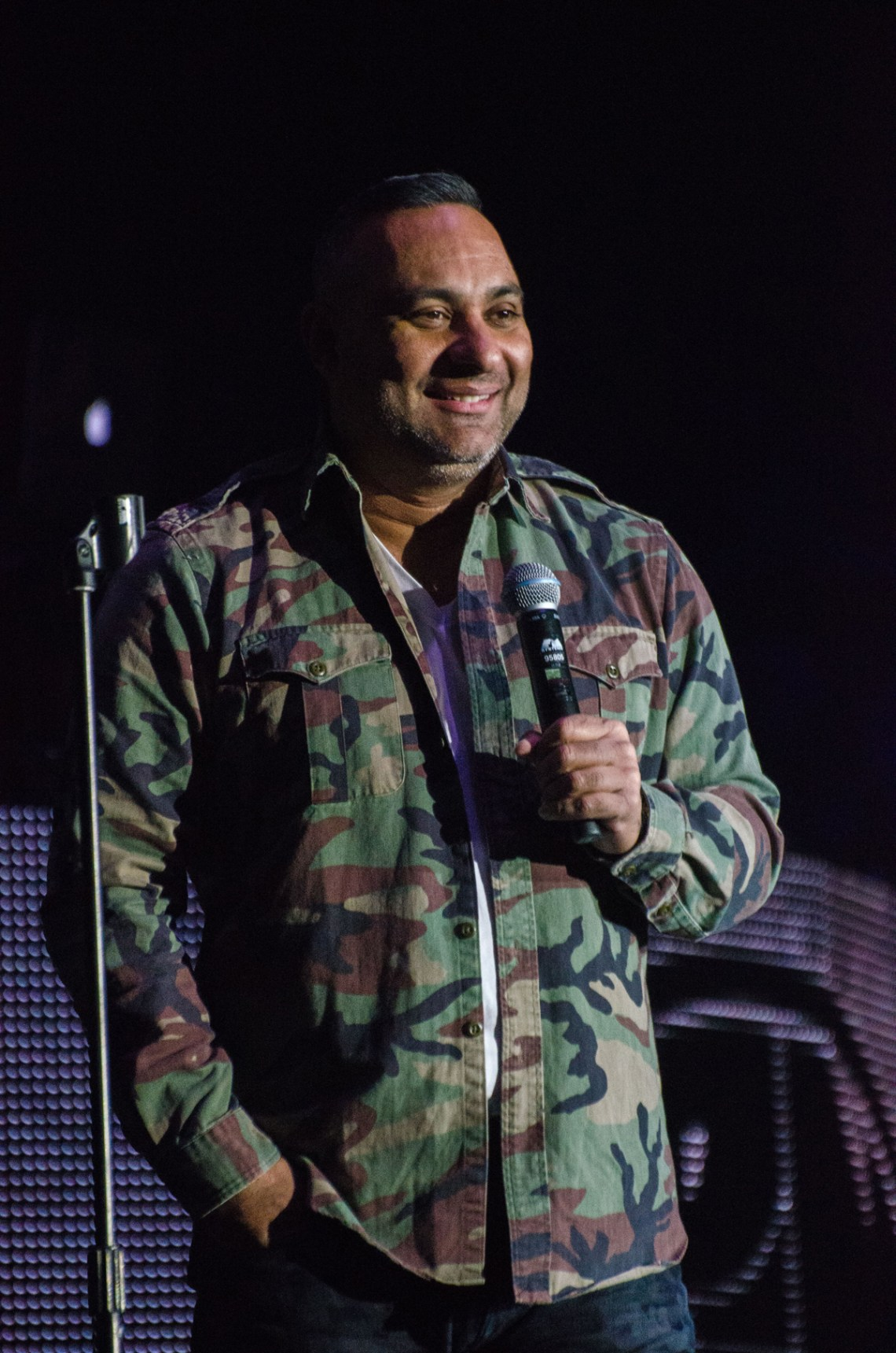 It was a sell out crowd of 5,300 at CN Centre last night for Canadian comedian Russell Peters, who did not disappoint. Jim VanderPloeg photo