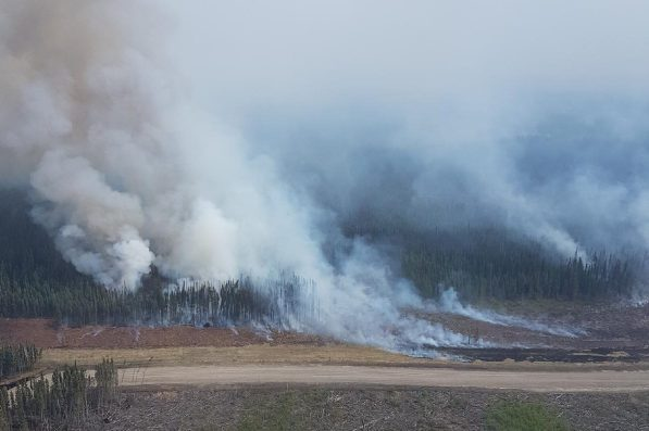 The Tommy Lakes fire. BC Wildfire Service photo
