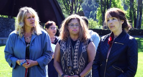 Krista Levar of RCMP Victim Services, Bally Bassi of Elizabeth Fry, and Erin Anderlini of the Native Friendship Centre talk about Victims and Survivors of Crime Week. Bill Phillips photo