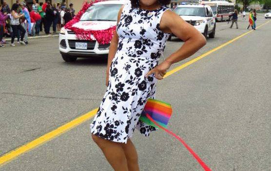 CBC reporter Wil Fundal was all decked out for the 21st annual Pride Parade in Prince George Saturday. Facebook photo