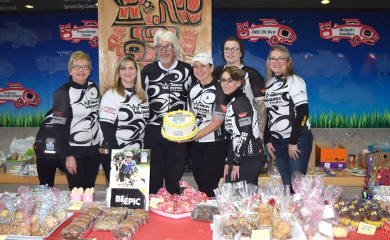 The Wheelin' Warriors of the North bake sale is on all day today at the University Hospital of Northern B.C. Come on down, get some baked goods, and support cancer research in British Columbia. Bill Phillips photo