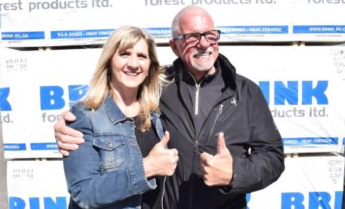 Relay for Life keynote speaker Eva Patten and sponsor John Brink. Bill Phillips photo