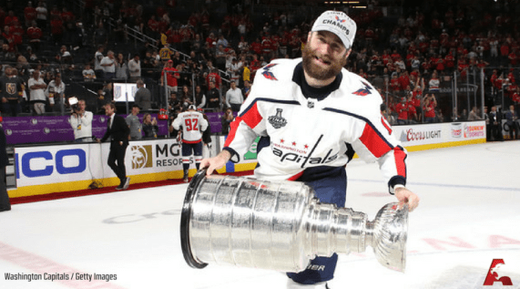 Brett Connolly with the Stanley Cup. Washington Capitals Getty Images