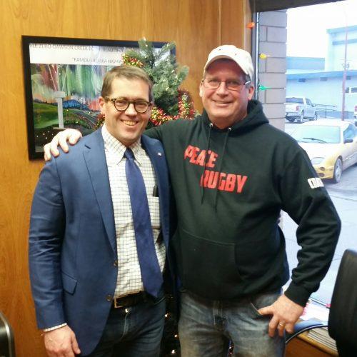 Prince George-Peace River-Northern Rockies MP Bob Zimmer with Dawson Creek's Mark Rogers.